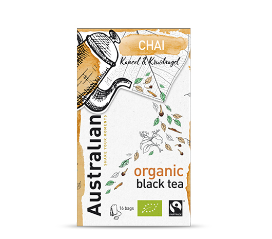 Black tea Chai 16 x 1,6 gram fairtrade organic