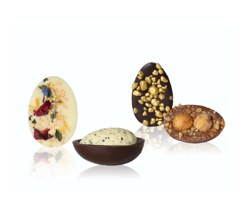 Nieuw! 16-pack chocolate cracked easter eggs