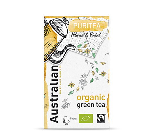 Green tea Puritea 16 x 1,6 gram fairtrade organic
